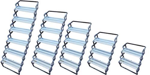 Torklift folding steps: 2 step to 6 step systems