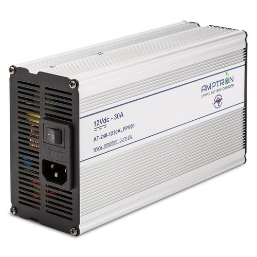 Amptron 30A 12V Lithium ​LiFePO4 Battery Charger
