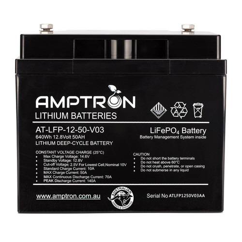 Amptron 12V 50Ah Lithium LiFePO4 Battery