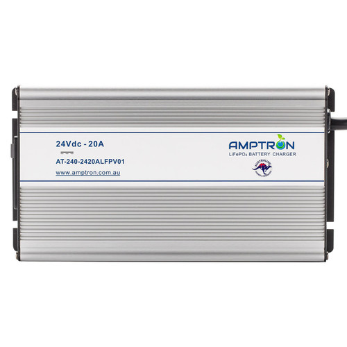 Amptron 10A 24V Lithium LiFePO4 Battery Charger