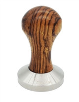 Zebra Tamper with Black Tamper Seat by Cafelat