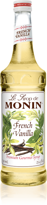 Monin French Vanilla - 750ML Glass Bottle