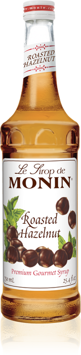 Monin Roasted Hazelnut - 750ML Glass Bottle