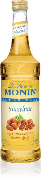 Monin Sugar Free Hazelnut - 750ML Glass Bottle
