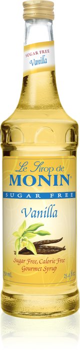 Monin Sugar Free Vanilla - 750ML Glass Bottle