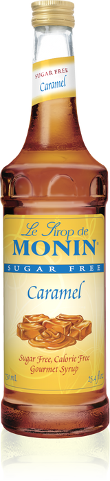 Monin Sugar Free Caramel - 750ML Glass Bottle