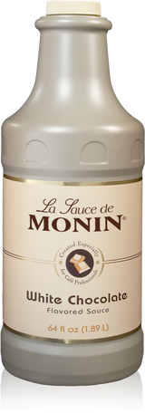 Monin White Chocolate Sauce - 64 Ounce