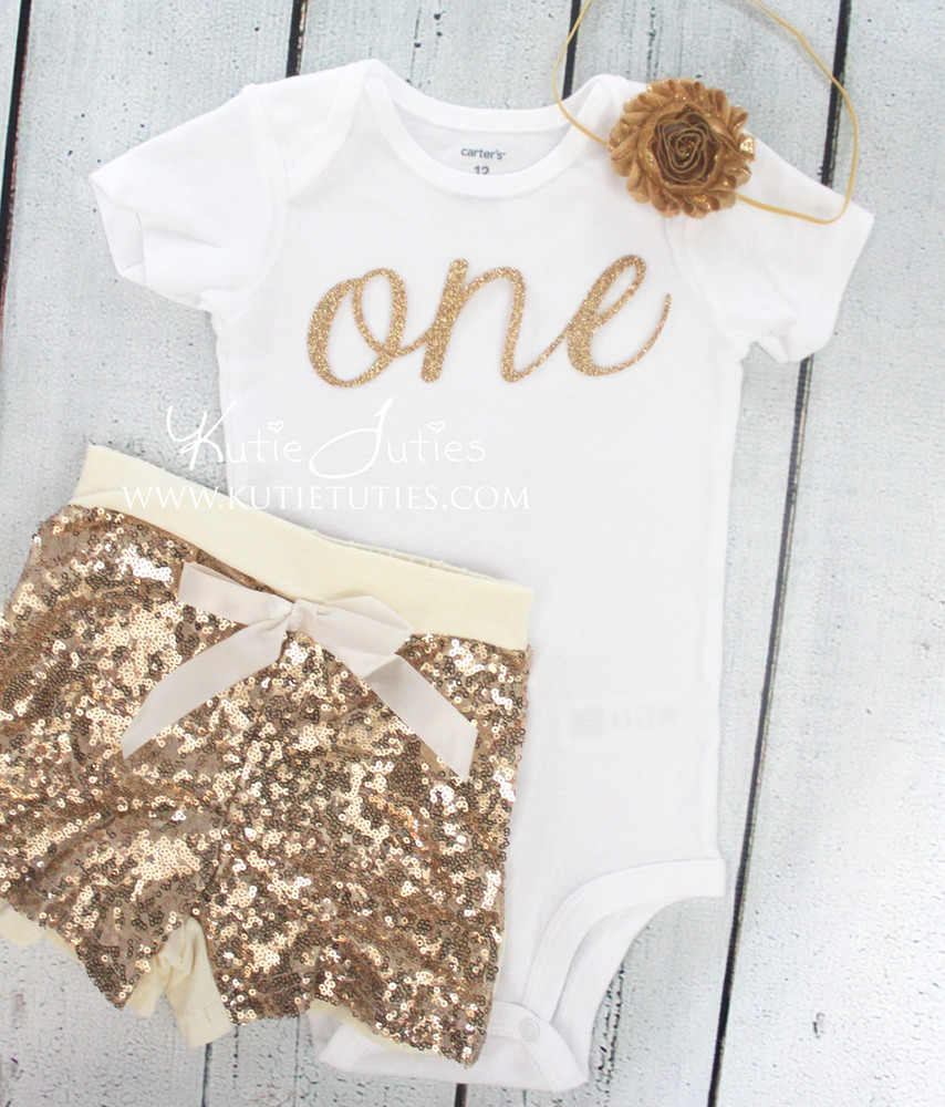 Gold Cursive Birthday Bodysuit/Shirt