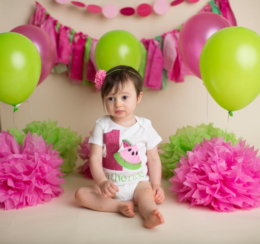 Watermelon Birthday Bodysuit/Shirt (Personalized)