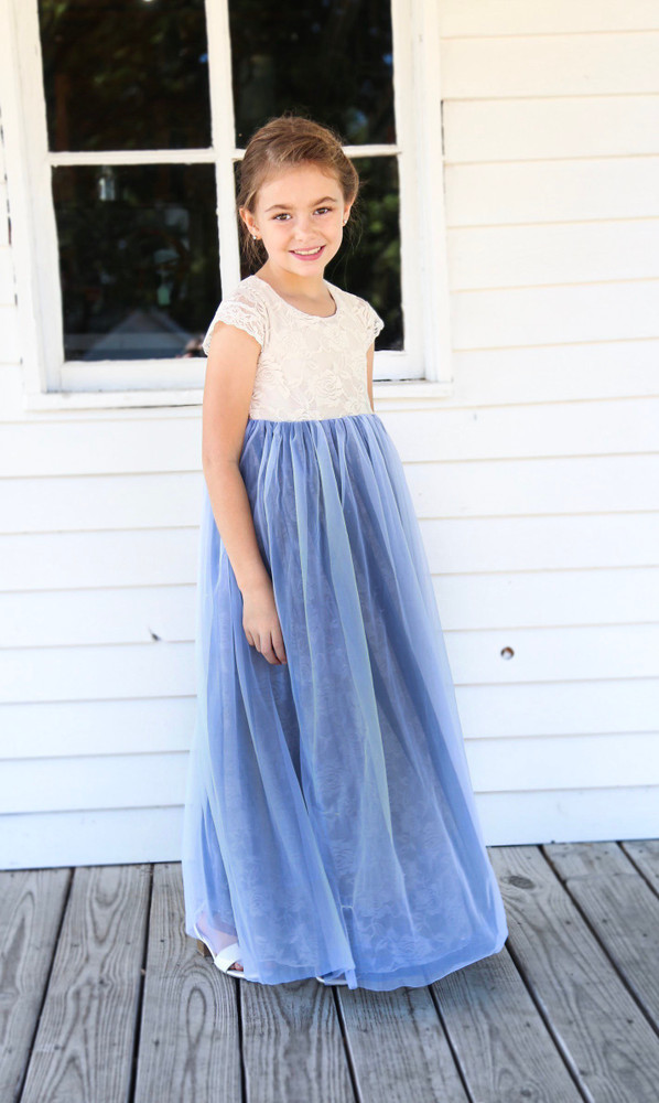 Smoke Blue Tutu Dress