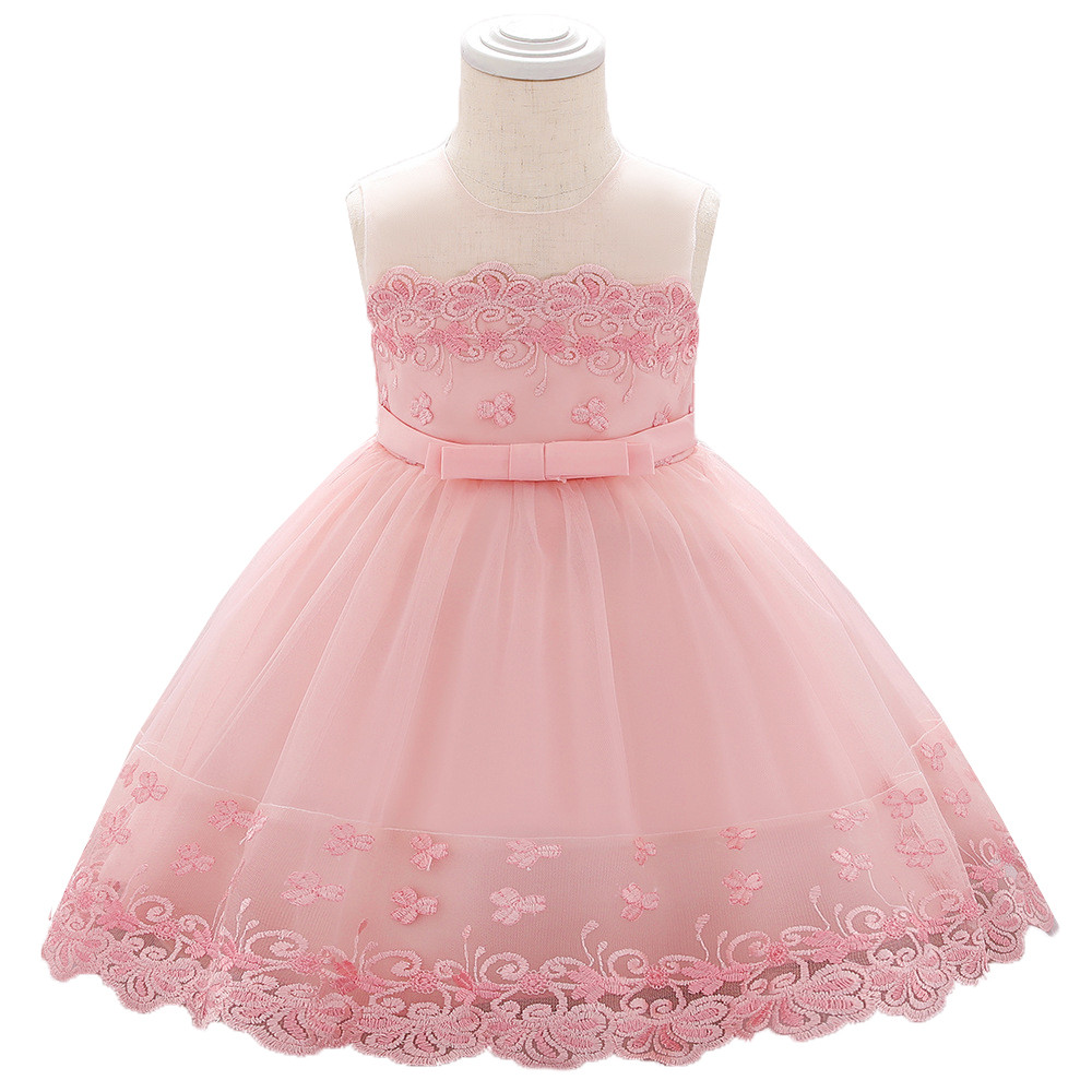 Pink Embroidered Tutu Dress
