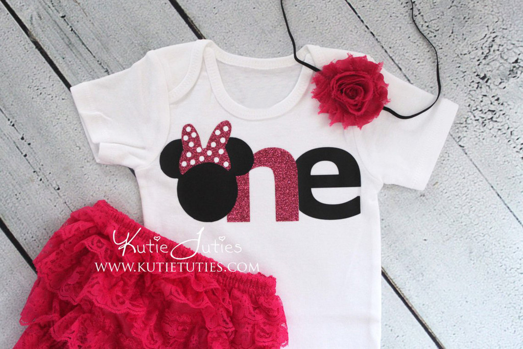 "Minnie ""ONE"" Birthday Onesie/Shirt"