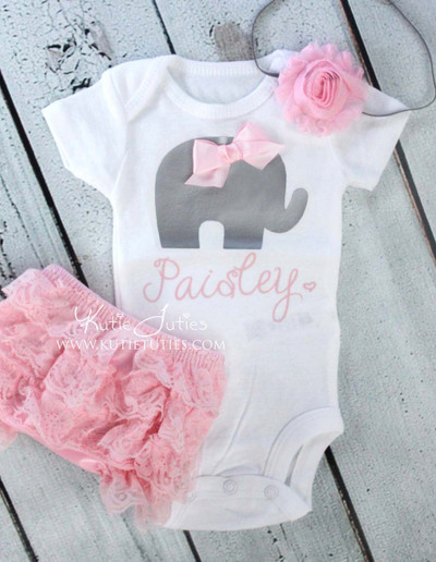 Elephant Bodysuit/Shirt (Personalized)