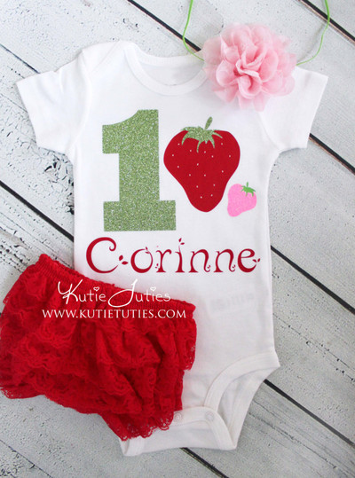 Strawberry Birthday Bodysuit/Shirt (Personalized)