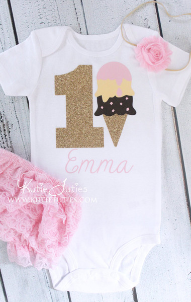 Ice Cream Birthday Bodysuit/Shirt (Personalized)