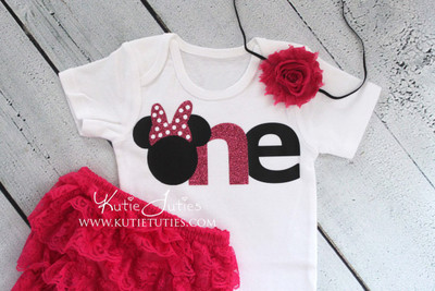 "Minnie ""ONE"" Birthday Bodysuit/Shirt"