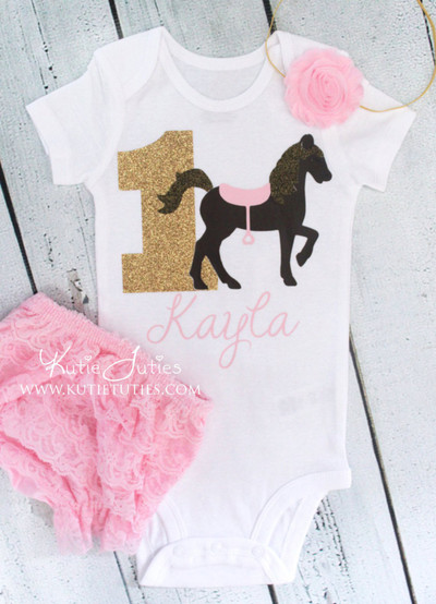 Horse Birthday Bodysuit/Shirt (Personalized)