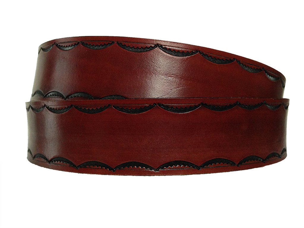 'SCALLOP' Leather Belt