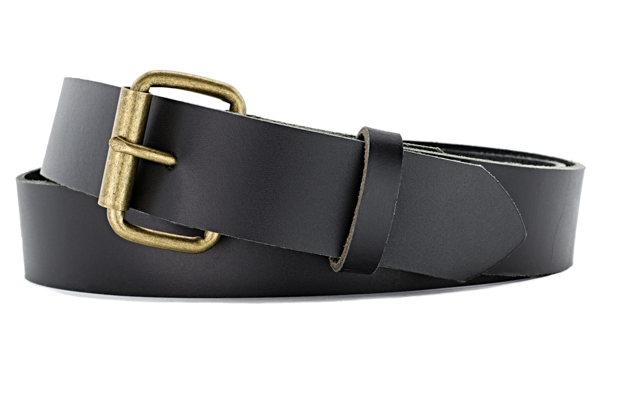 Classic Black Leather Belt