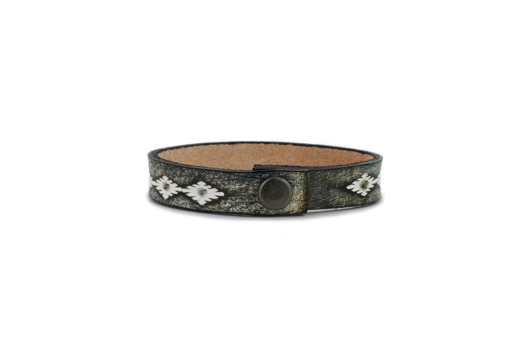'Navajo Sun' Leather Wristband women's