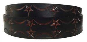 ROCKSTAR Red Gold Leather Belt