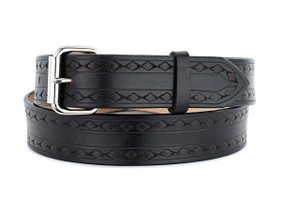 NAVAJO SUN Black Leather Belt
