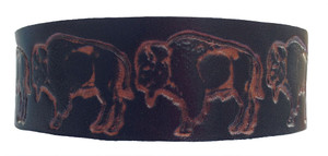 'Buffalo' Leather Wristband