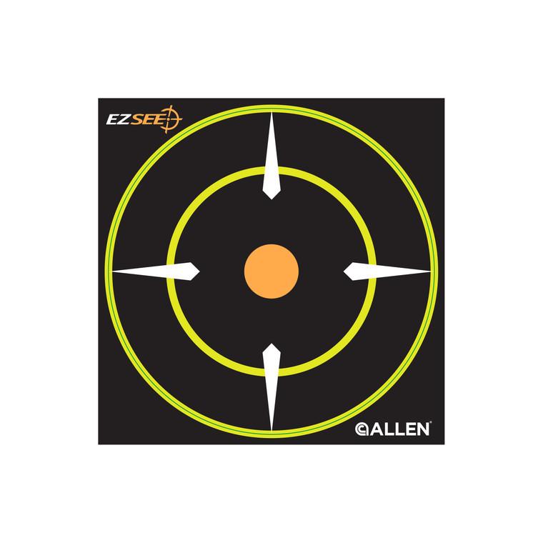 """Allen EZ See Adhesive Round Bullseye Target 6"""" Circle (12pk)"""