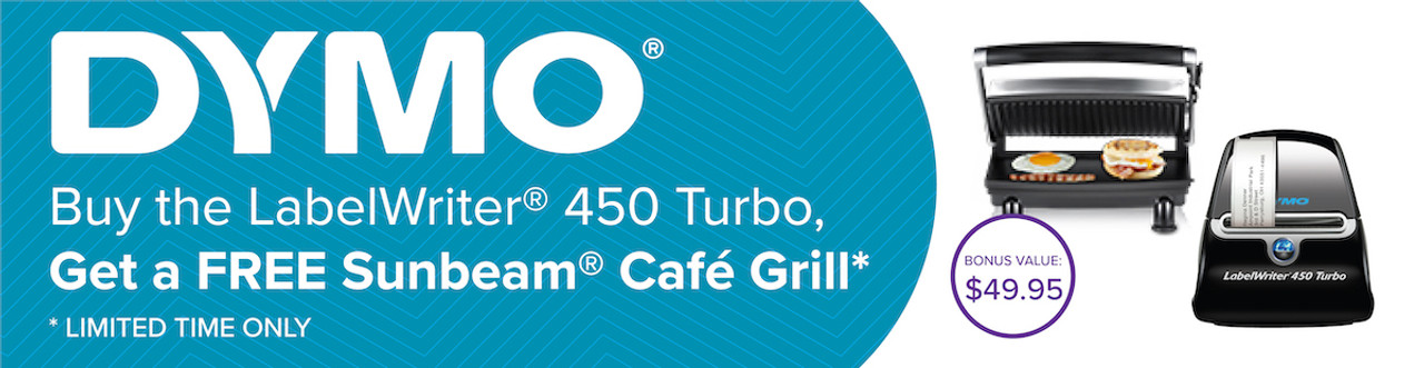 BONUS SUNBEAM CAFE GRILL with Dymo LabelWriter 450 Turbo LW450T