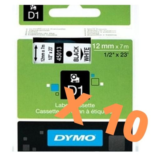 Dymo LabelManager D1 Tape 45013 12MM X 7M Black on White - LIMITED OFFER