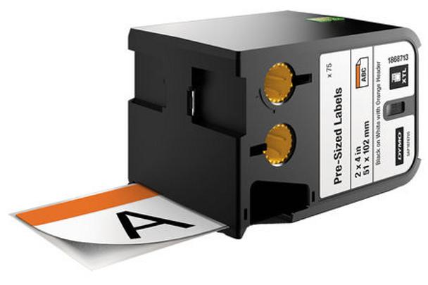 Dymo XTL Pre-Sized Safety Labels 51x102mm - ORANGE
