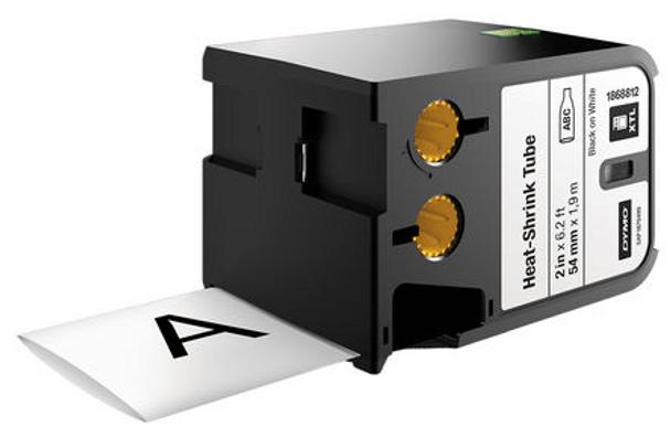 Dymo XTL Continuous Heat Shrink Tube Black on White 6mm 1868809