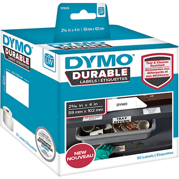 Dymo 1976414 Durable LabelWriter Labels 59mm x 102mm Roll of 50 Labels