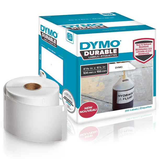 Dymo 1933086 Durable 4XL LabelWriter Labels 104mm x 159mm Roll of 200 Labels