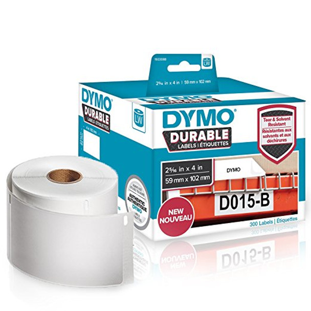 Dymo 1933088 Durable LabelWriter Labels 59mm x 102mm Roll of 300 Labels
