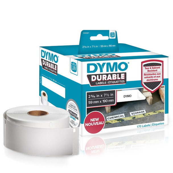 Dymo 1933087 Durable LabelWriter Labels 59mm x 190mm Roll of 170 Labels