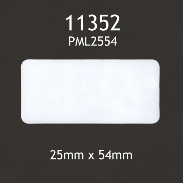 Dymo Compatible 11352 Labels - 25X54Mm White 500 Labels/Pkt