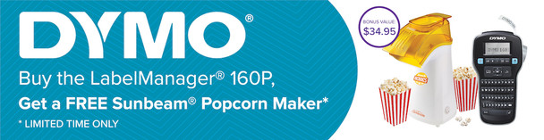 BONUS SUNBEAM POPCORN MAKER with Dymo LabelManager 160P  LM160