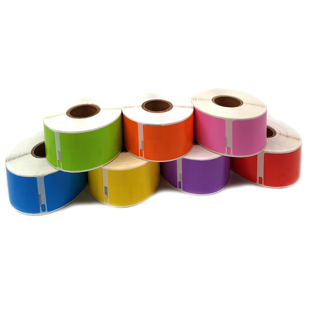 Dymo Assorted Colours Compatible 99012 Labels
