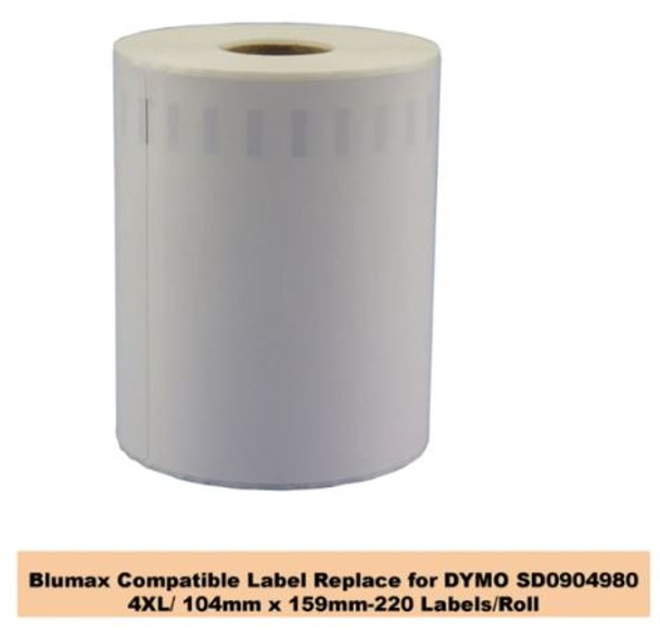 Dymo Compatible 904980 S0904980 4XL Extra Large Shipping Labels - BULK PACK OF 6 ROLLS