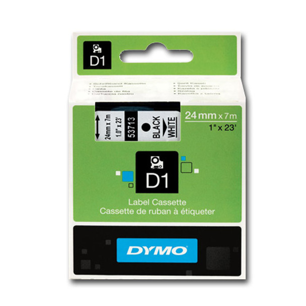 Dymo LabelManager D1 Tape 53713 24MM X 7M Black on White S0720930