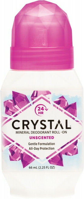 Crystal Unscented Roll on Deodorant 66ml