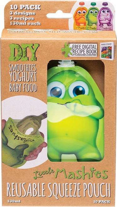 Reusable Squeeze Pouch Mixed 10x 130ml by LITTLE MASHIES