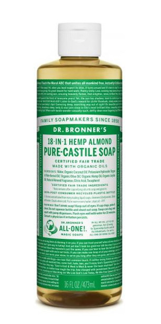 Pure-Castile Liquid Soap 473ml - Almond by Dr. Bronner's