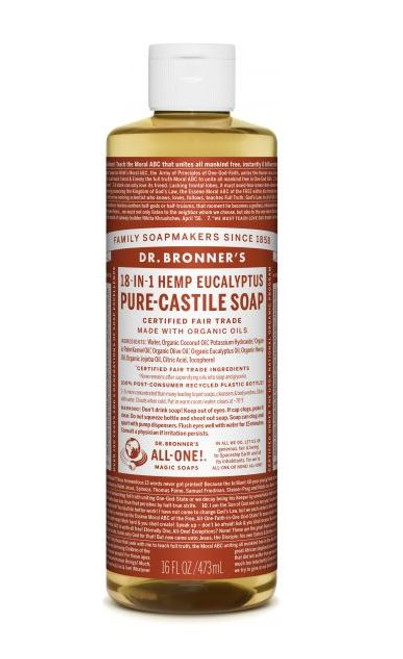 Pure-Castile Liquid Soap 473ml - Eucalyptus by Dr. Bronner's