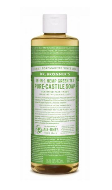 Dr. Bronner Pure-Castile Liquid Soap 473ml - Green Tea