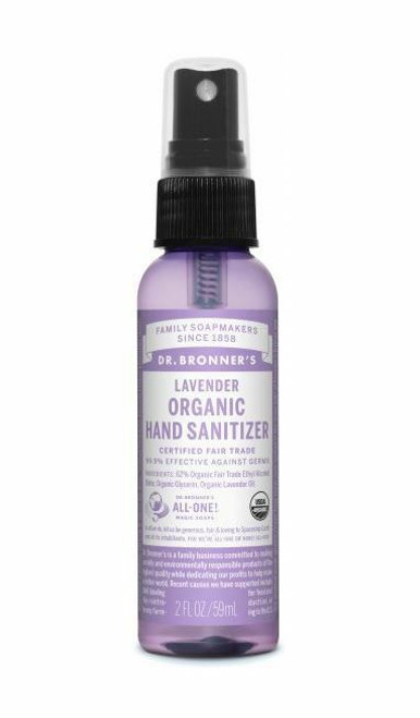 Organic Hand Sanitizer Lavender 59ml by Dr. Bronner's