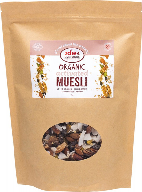 Activated Organic Muesli 1kg by 2DIE4 LIVE FOODS