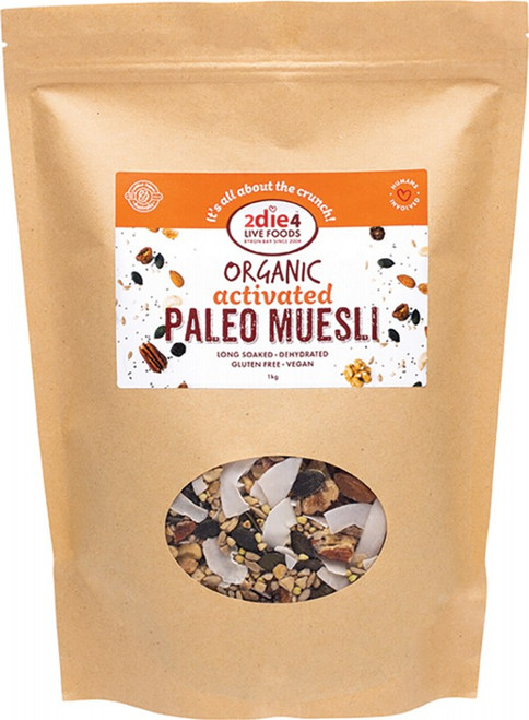 Activated Organic Paleo Muesli 1kg by 2DIE4 LIVE FOODS