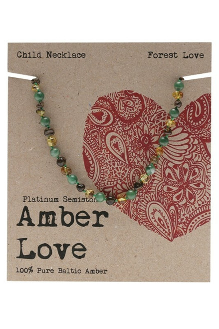 Amber Forest Love Child Necklace 33cm by Amber Love